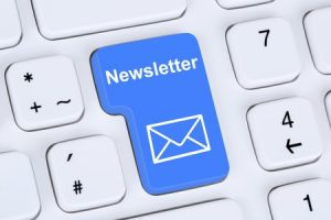 Image of keyboard with key reading newsletter.